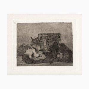 Extraña devoción! - Original Etching by Francisco Goya - 1863 1863