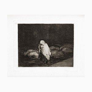 Las camas de la Muerte - Original Etching by Francisco Goya - 1863 1863
