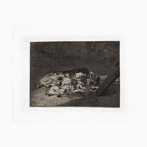 Muertos Recogidos - Original Radierung von Francisco Goya - 1863 1863
