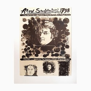 Portrait of Aloys Senefelder - Original Lithograph by Graham Sutherland - 1971 1971