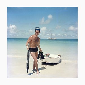 O'brian's Catch Oversize C Print Framed in White by Slim Aarons