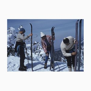 On the Slopes in Sugarbush Oversize C Print Framed in White by Slim Aarons