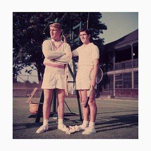 Oz Tennis Stars Oversize C Print Framed in White by Slim Aarons