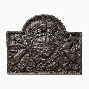 Large Antique English Cast Iron Fire Back