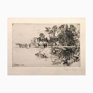 Cowdray Castle (with Geese) 1882