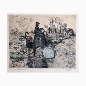 Le Petit Oiseau - Original Etchin von Jean François Raffaelli - 1915 1915