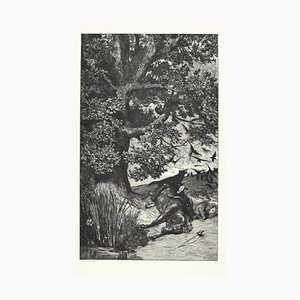 Fallen Knight - Original Radierung von M. Klinger - 1881 1881