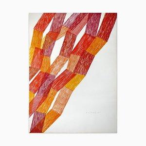 Litografía Abstract Abstract Composition - Original de Piero Dorazio - 1983 1983
