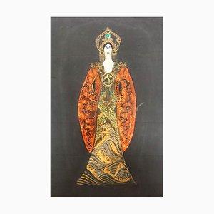 Turandot's Costume Draft - Original Tempera - 1930s 1930s