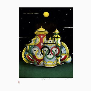 Olympic Connections - Original Lithograph by P.A. Breccia - 2008 2008