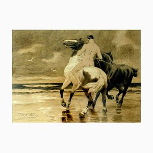 The Rider - Original Lithograph - Early 20th Century Early 20th Century