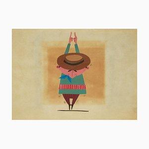 Wie groß bin ich! - Original Tempera auf Papier von Renato Rascel - 1970er 1970er