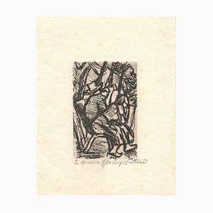 La Domenica - Original Etching by Luigi Bartolini - 1943 1943