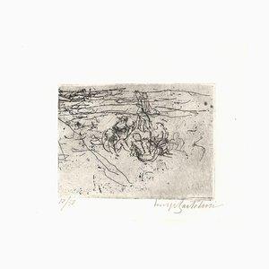 Donne sulla Spiaggia - Original Radierung von Luigi Bartolini - Erste Hälfte von 1900 Erste Hälfte von 1900