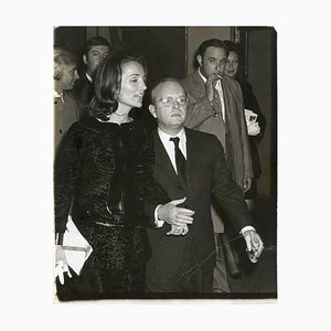 Truman Capote and Lee Radziwill - Vintage Photo by Ron Galella - 1969 1969