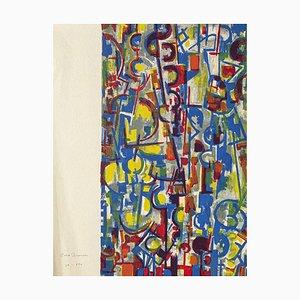 Abstract Composition - Original Scree Druck und Lithographie von E. Brunori - 1955 1955