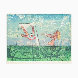 Archery – Original Etching by R.S. Matta- 1977 1977