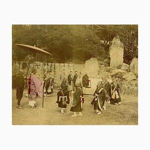 Religious Ceremony in Kyoto - Hand-Colored Albumen Print 1870/1890 1870/1890