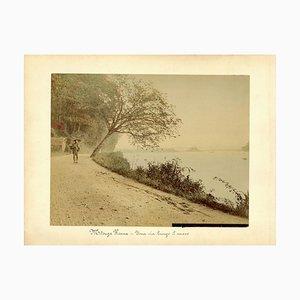 Paisaje del mar interior de Seto - Impresión de albúmina pintada a mano 1870/1890 1870/1890