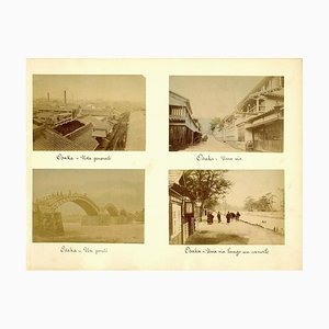 Ancient Views of Osaka - Hand-Colored Albumen Print 1870/1890 1870/1890