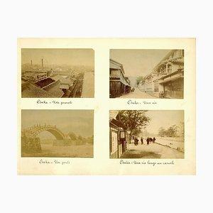 Ancient Views of Osaka - Hand-Coloured Albumen Print 1870/1890 1870/1890