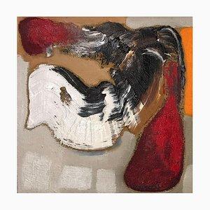 Abstrakte Komposition - Original Öl auf Leinwand von Piero Mascetti - 1990er 1990er