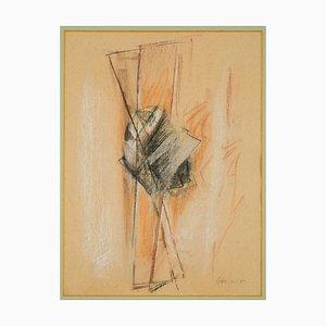 Abstrakte Komposition - Original Pastel Zeichnung von Claudio Palmieri - 1989 1989