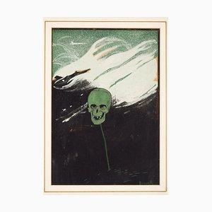 Illustration für Avanti! - Original Mixed Media von B. Angoletta - Früh 1900 Frühes 20. Jahrhundert