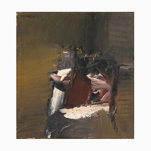 Small Stool - Original Oil on Canvas by E. Waschimps - 1963 1963
