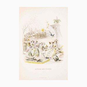 Retour des Fleurs - Les Fleurs Animées Vol. II - Litho by J.J. Grandville - 1847 1847