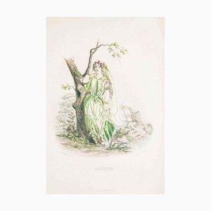 Verveine - Les Fleurs Animées Vol.II - Litho von JJ Grandville - 1847 1847