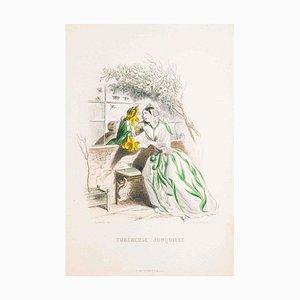 Tubéreuse Jonquille - Les Fleurs Animées Vol.I - Litho von JJ Grandville - 1847 1847