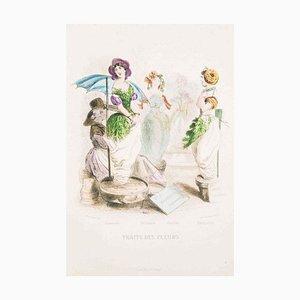Traite des Fleurs - Les Fleurs Animées Vol.II - Litho von JJ Grandville - 1847 1847