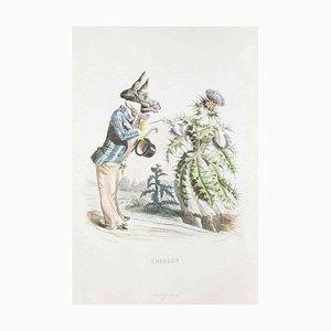 Chardon - Les Fleurs Animées Vol.I - Litho von JJ Grandville - 1847 1847