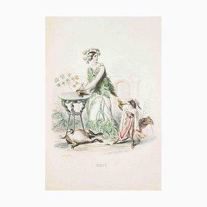 Cigue - Les Fleurs Animées Vol.I - Litho von JJ Grandville - 1847 1847