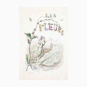 Frontispiece - Les Fleurs Animées Vol.I - Litho by J.J. Grandville - 1847 1847