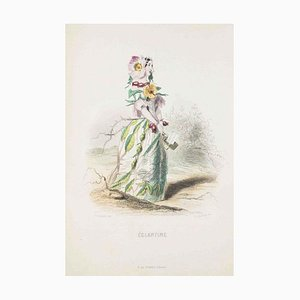 Eglantine - Les Fleurs Animées Vol.I - Litho by J.J. Grandville - 1847 1847