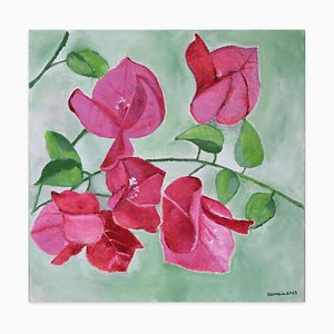 Bouganvillea - Original Oil on Canvas by Marzia Trinca - 2019 2019