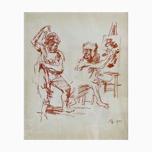 Painter and Model - Oskar Kokoschka - Original Lithograph 1959 1959
