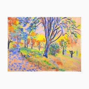 Landschaft - Aquarell auf Papier - 1946 1946