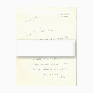Surrealist Autograph Letter by Cocteau - 1959 1959