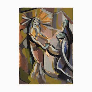 Appareil du Christ à la Colonne - Original Tempera von Paul Bony - 1932 1932