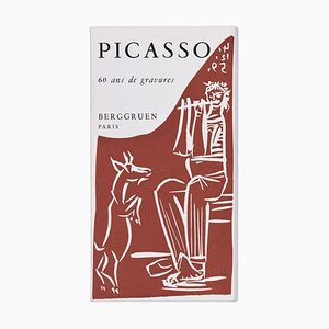 Picasso. 60 Ans de Gravures - Vintage Catalogue with Original Linocut - 1964 1964