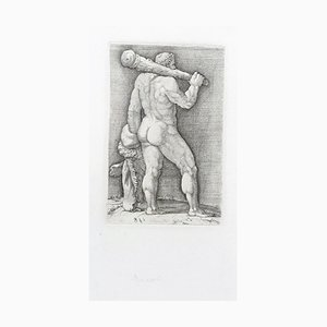 Heracles with the Club - Original Etching by Anonymous Master 17th Century 17th Century
