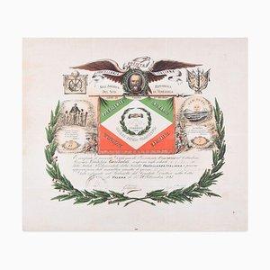 Società Fratellanza Italiana - Original Stencil - 1881 1881