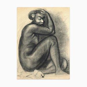 Studien für Portraits - Kohlezeichnungen auf Elfenbeinpapier - 20. Jahrhundert 20. Jahrhundert
