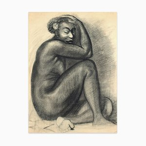 Studies for Portraits - Charcoal Drawings on Ivory Paper - 20th Century 20th Century