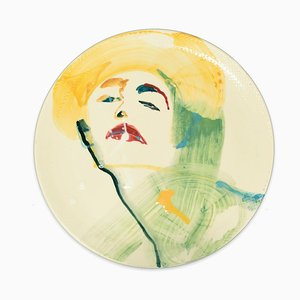 Woman - Original Hand-made Flat Ceramic Dish by A. Kurakina - 2019 2019
