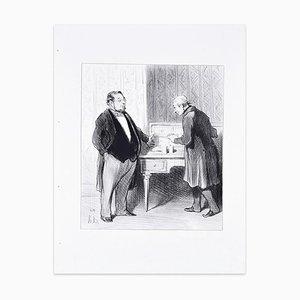 Monsieur Par suite De La Fusion... - Lithograph by H. Daumier - 1845 1845