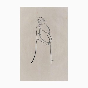 Anna Thibaud - Original Lithograph on Japan Paper by H.-G. Ibels - 1893 1893